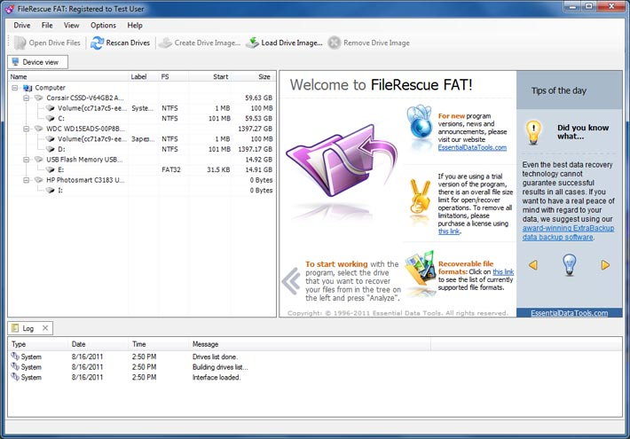 Click to view FileRescue for FAT screenshots