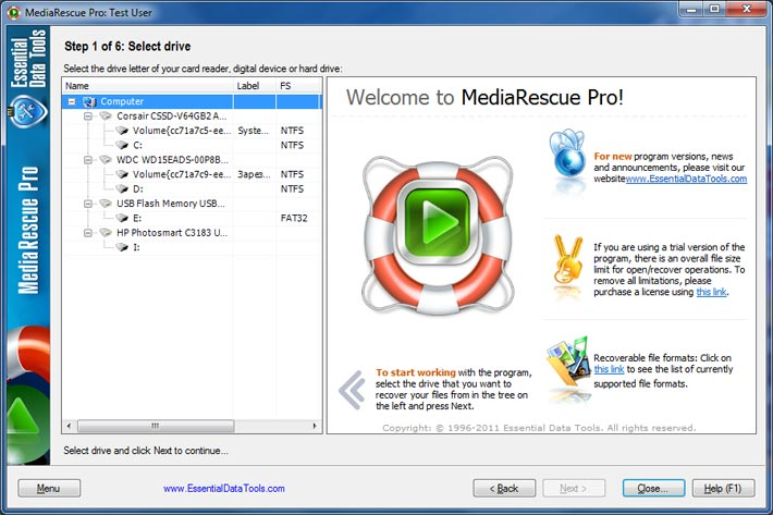MediaRescue 6.16 Build 1045 Keygen 2018,2017 screen1.jpg