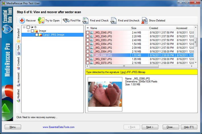 Recover lost multimedia files from all media.
